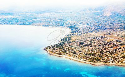 Aerial view of Palermo Sicily