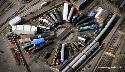 aerial photograph of the Tyseley Locomotive Works Birmingham, England  UK