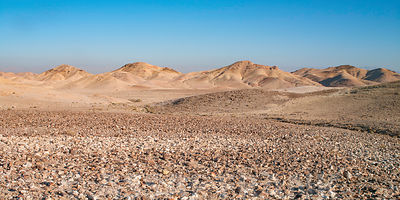 Extreme terrain in desert of Israel