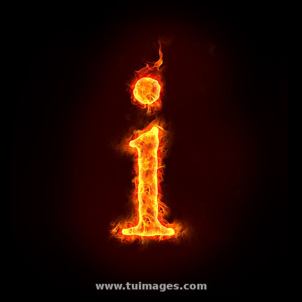 i letter in fire - photo #13