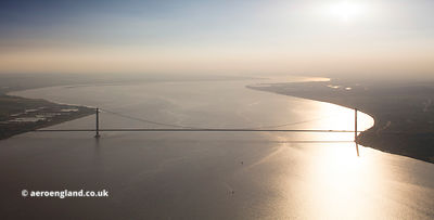 Humber Bridge  aerial photograph
