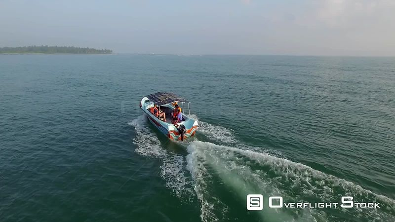 Tour Boat off Amaya Beach Sri Lanka