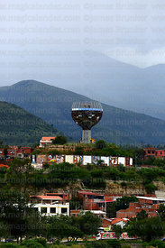 Wine Glass / Copa de Vino monument on viewpoint in San Martin district, Tarija, Bolivia