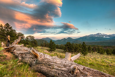 Sunset over Long's Peak, taken from above Moraine Park.  Rocky Mountain National Park, Colorado