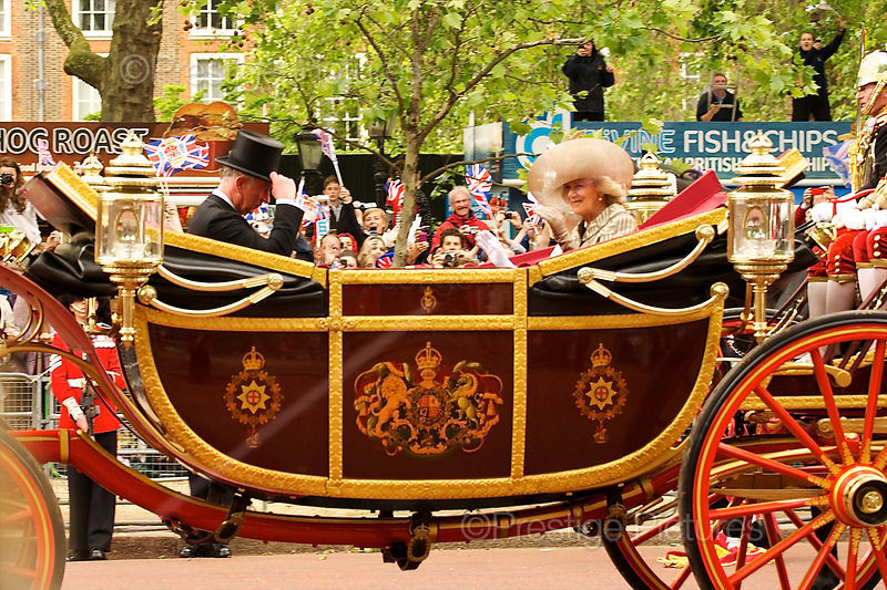 Charles and Camilla in the 1902 State Landau Carriage