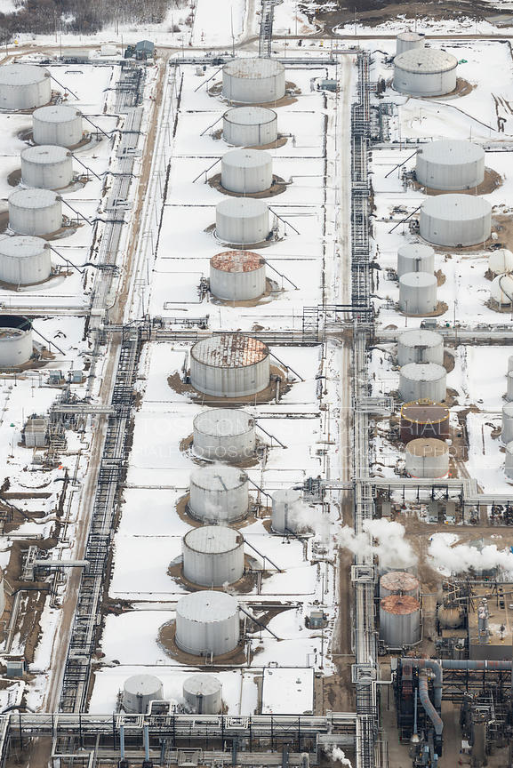Oil Refinery in Winter