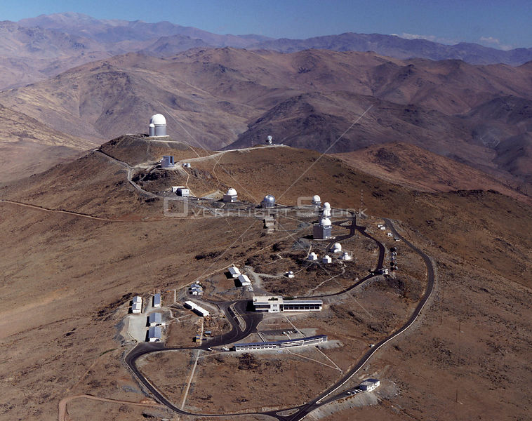 CHILE La Silla -- c.2000 -- The La Silla telescope complex of the European Space Observatory in the Andean mountains of Chile.