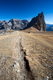 Hiking trail in the Alps