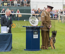 Stealing the show, prize giving, Land Rover Burghley Horse Trials 2017