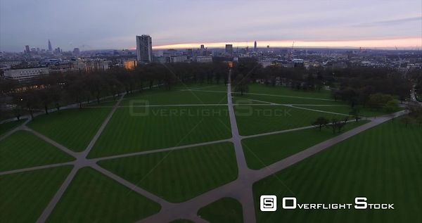 Drone Video Hyde Park and Citscape London England