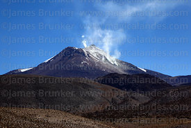 Fumaroles on south flank and summit of Guallatiri volcano, Las Vicuñas National Reserve, Region XV, Chile