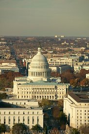 Aerial Photograph of the United States Capitol in Washington DC