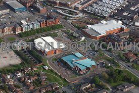 Birkenhead aerial photograph of Europa Pools and Vue Cinemas and Mecca Bingo Conway Street Wirral