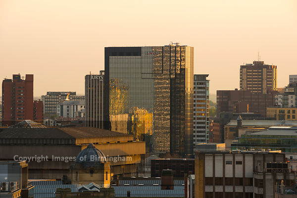 Cityscape of Birmingham, West Midlands, England, UK