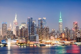 Midtown Manhattan skyline at dusk, New York city, USA