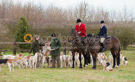 Neil and Philippa Coleman with the Cottesmore hounds