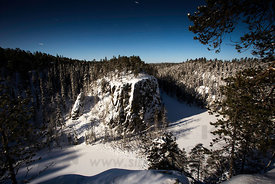 Ristikallio, Oulanka National Park in moonlight