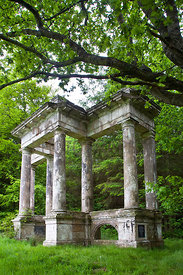 'Temple'; Victorian portico salvaged from Strathleven House in Dunbartonshire