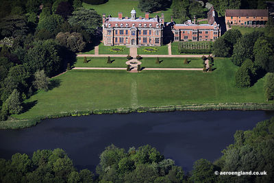 aerial photograph of Sudbury Hall Derbyshire
