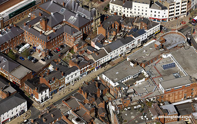 aerial photograph of  Darlington St.Wolverhampton WV1 4EX  UK