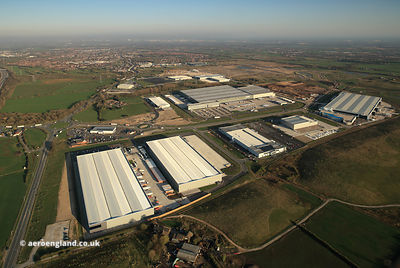 Logistics North Business park Over Hulton Bolton Lancs  aerial photograph