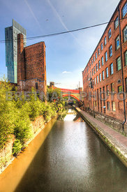 Canal Towards Deansgate & Hilton Hotel