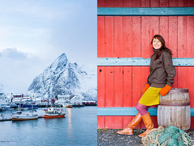 Hamnoy, Lofoten, Norway. Shot on commission for Lonely Planet magazine.