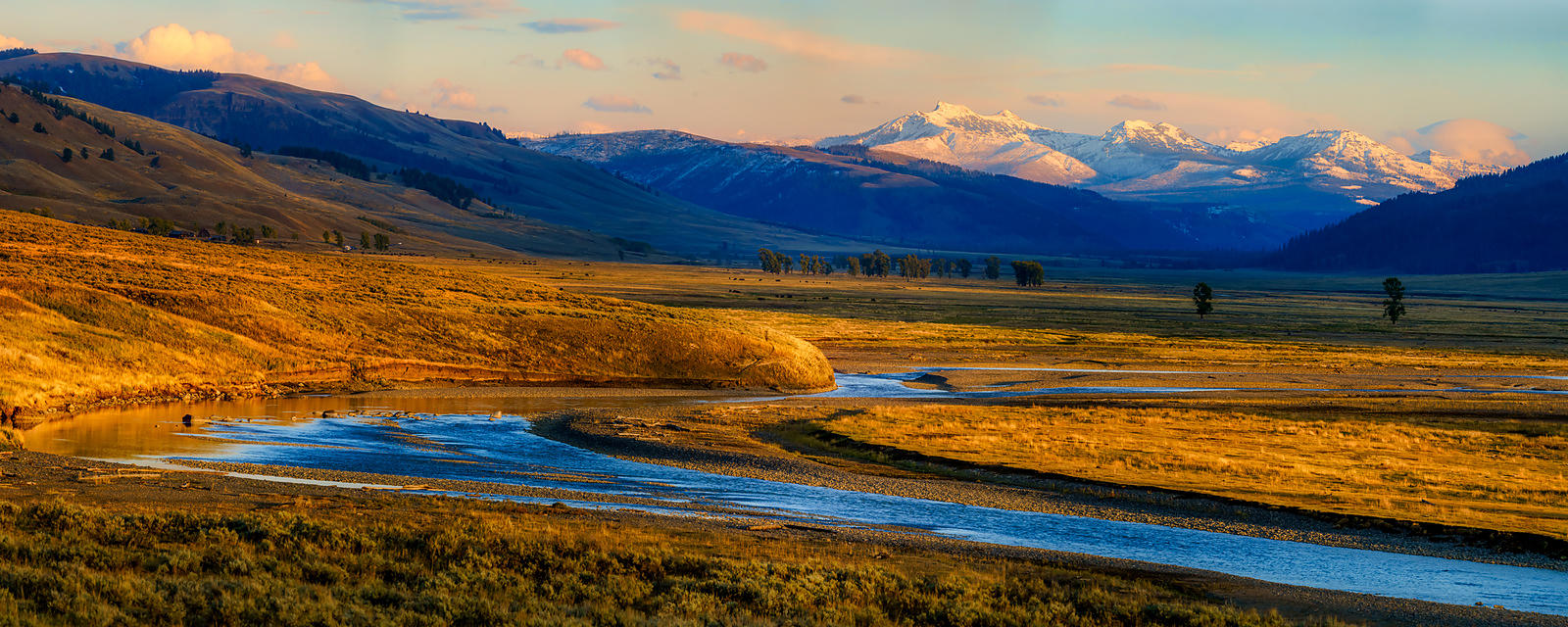 Lamar Valley Sunset Panorama