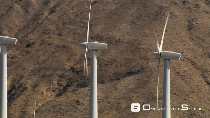 Close orbit of wind turbine and blades