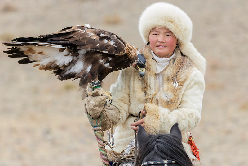 "Aishol-Pan the ""Eagle Huntress"""