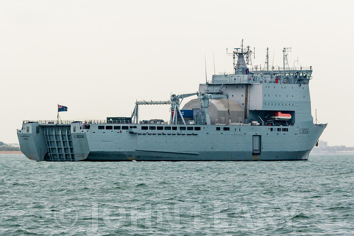 Royal Fleet Auxiliary Ship Largs Bay (L3006).