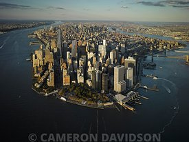 Aerial photograph of lower Manhattan, New York city
