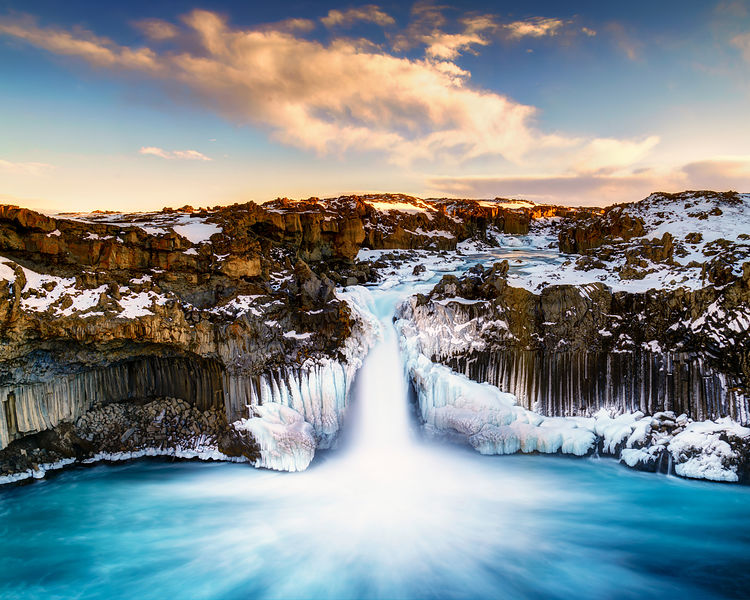 Aldeyarfoss Winter Sunrise