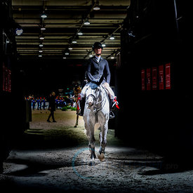Bordeaux, France, 2.2.2018, Sport, Reitsport, Jumping International de Bordeaux - . Bild zeigt P?n?lope LEPREVOST (FRA) riding Broadway de Mormoulin (YH)...2/02/18, Bordeaux, France, Sport, Equestrian sport Jumping International de Bordeaux - . Image shows P?n?lope LEPREVOST (FRA) riding Broadway de Mormoulin (YH).