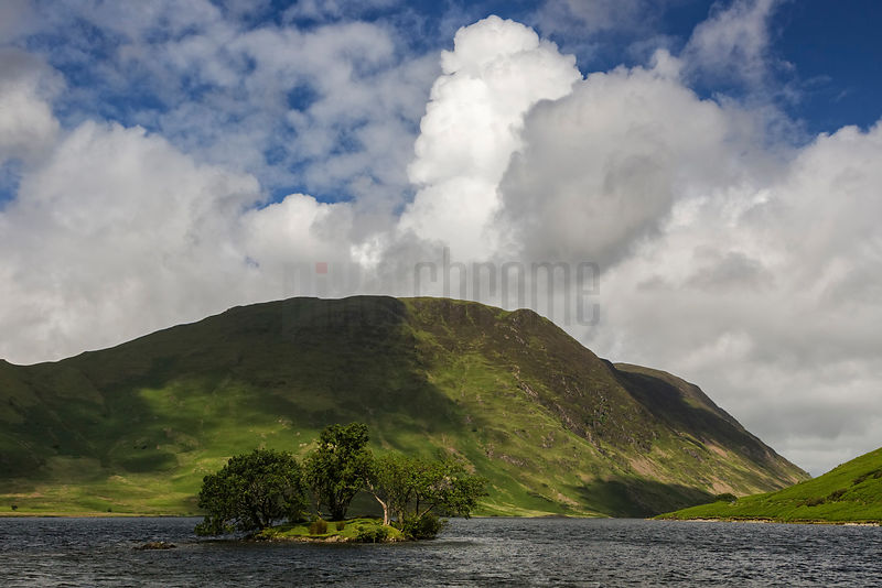 Woodhouse Island at Crummock Water