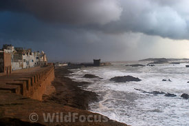Afternoon storm from the ramparts of Essaouira, Morocco; Landscape