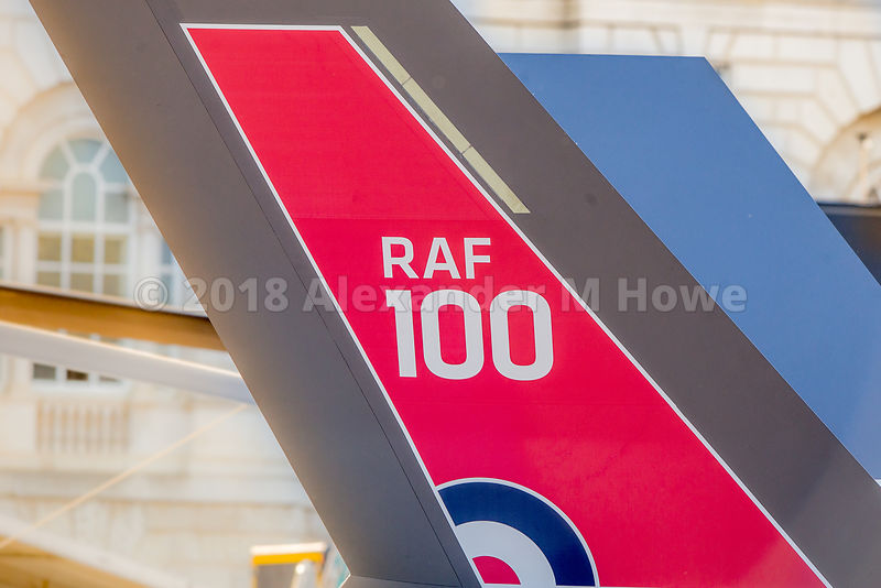 RAF 100th anniversary display on Horseguards Parade Ground