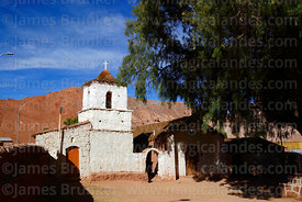 San Santiago church, Rio Grande, Region II, Chile