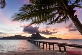 Sunset over Bora Bora, French Polynesia