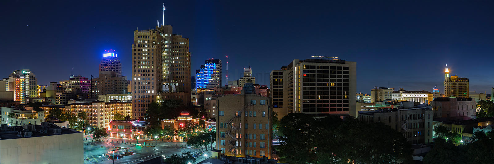 Elevated View of the San Antonio Skyline at Dawn