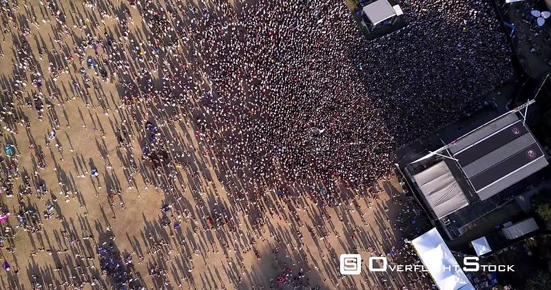 Aerial Drone Video Austin City Limits Music Festival Texas