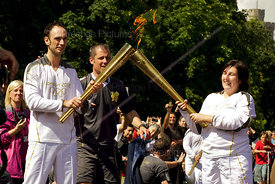 Jade Brede Handing over the Torch to Alan Corbishley