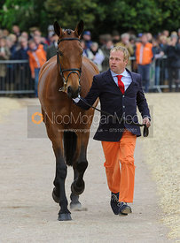 Andrew Heffernan and MILLTHYME COROLLA - First Horse Inspection, Mitsubishi Motors Badminton Horse Trials 2014