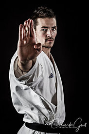 Studio sports portrait of Karate