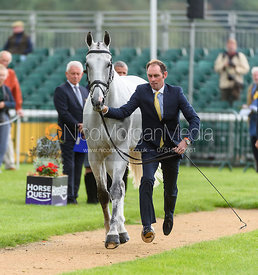 Joseph Murphy and FERNHILL FRANKIE II at the trot up, Land Rover Burghley Horse Trials 2018