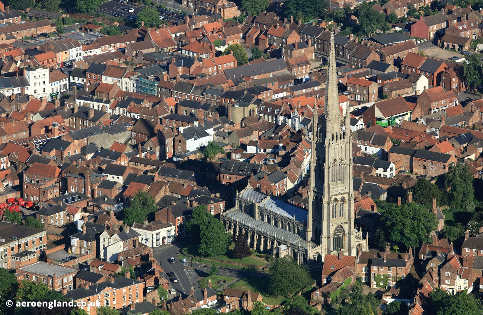 St. James Church, Louth Lincolnshire  aerial photograph