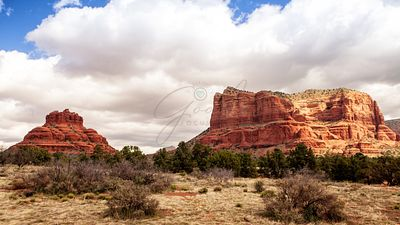 Bell and Courthouse Rocks in Sedona Arizona