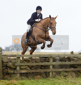 Jumping a wall at Goadby Hall