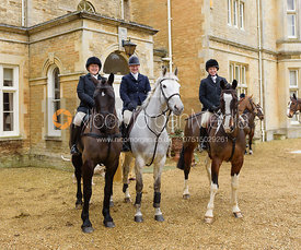 Holly Campbell at the meet at Exton Hall