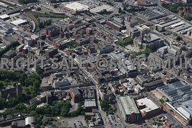 Bolton aerial photograph of the junction of Folds Road and Deansgate looking towards the centre of Bolton
